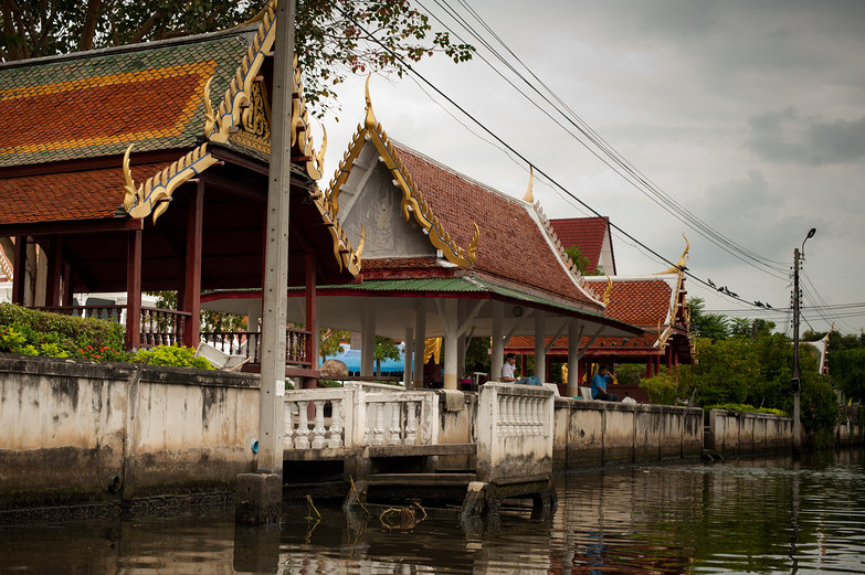 Wat along the Klong