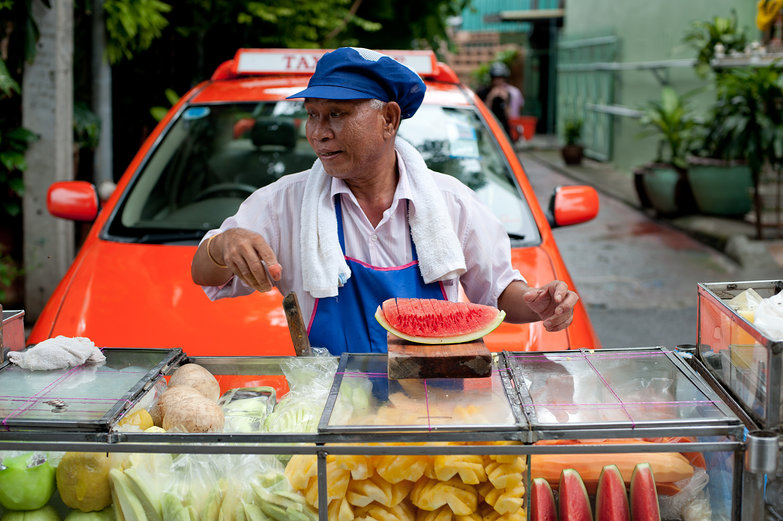 Neighborhood Fruit Vendor