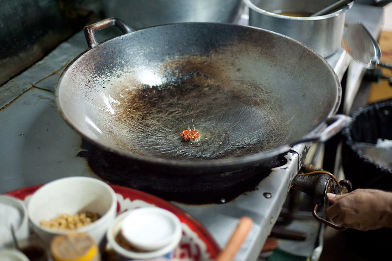 Red Curry Paste in Wok