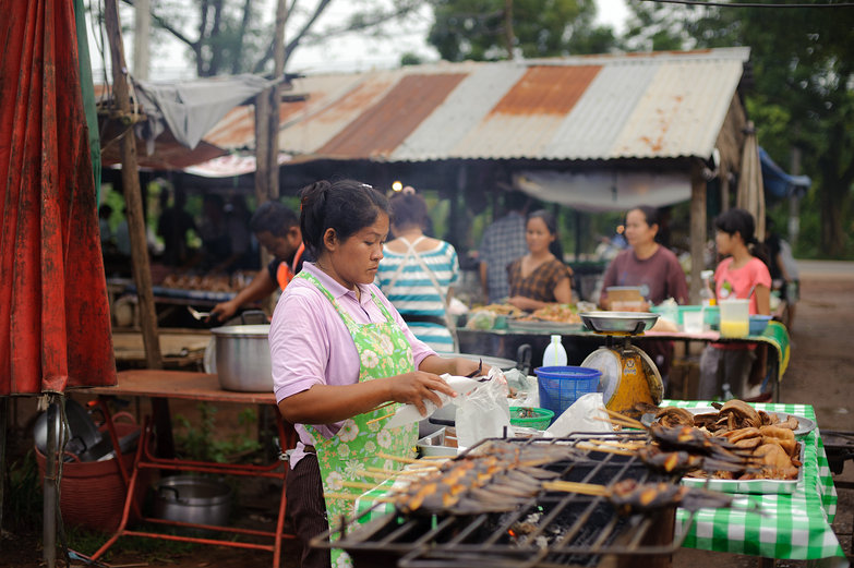 Market Woman and Grilled Fish