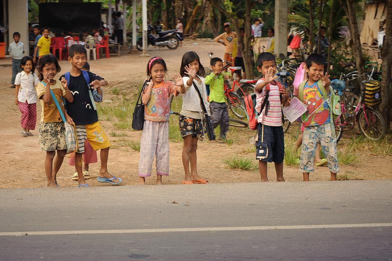 """Khmer Kids: """"HELLO HELLO HELLO!"""""""