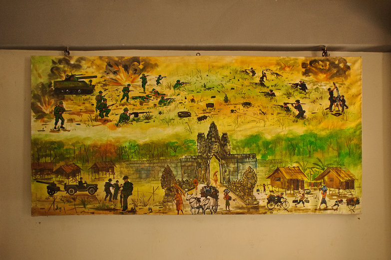 Cambodian War Painting
