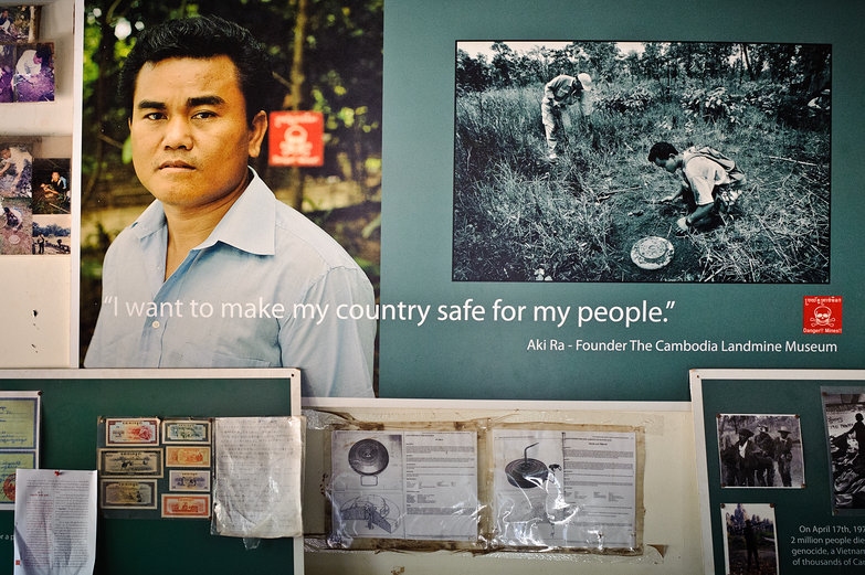 Aki Ra Poster, Cambodia Landmine Museum