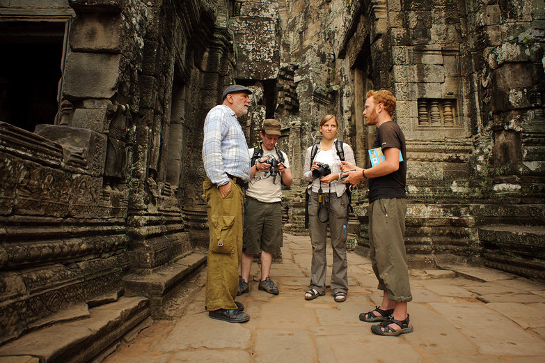 New German Friends at The Bayon