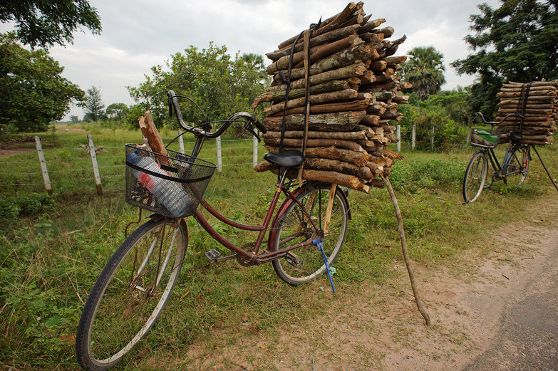 Cambodian Bicycle & Wood