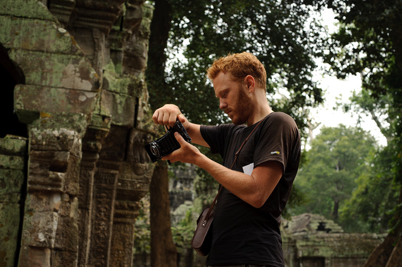 Tyler & His Belfoca at Ta Prohm Temple