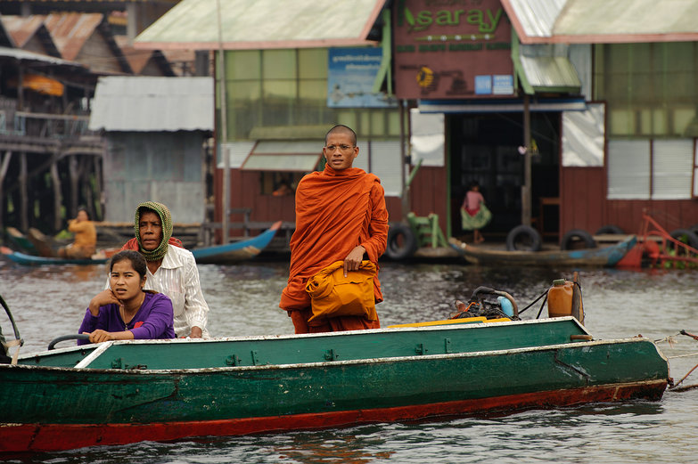 Monk Coming to Board the Boat