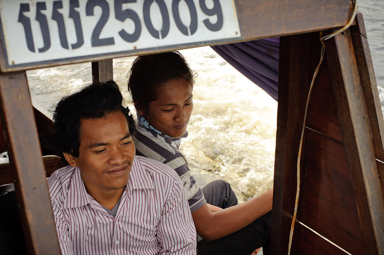 Cambodian Boat Drivers