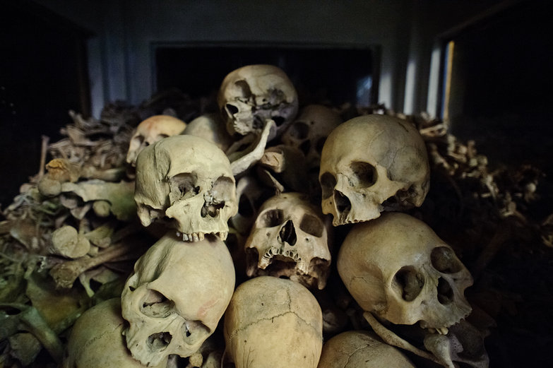 Khmer Rouge Victims' Bones in Killing Cave