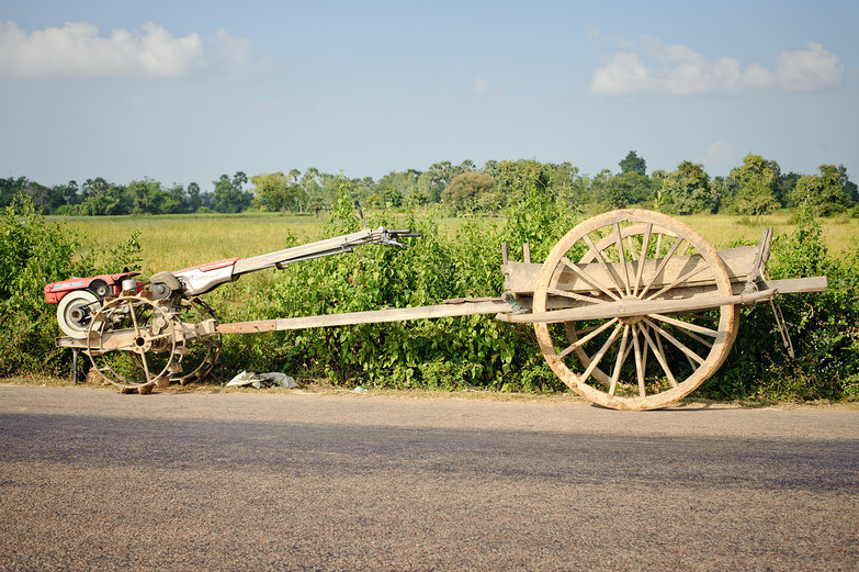 Cambodian Wooden Wagon