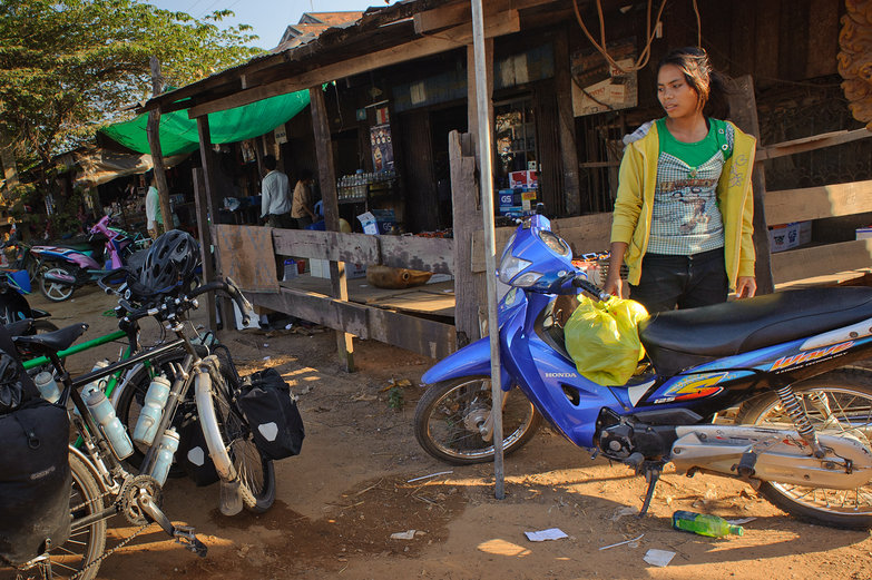 Cambodian Girl Eying our Bikes