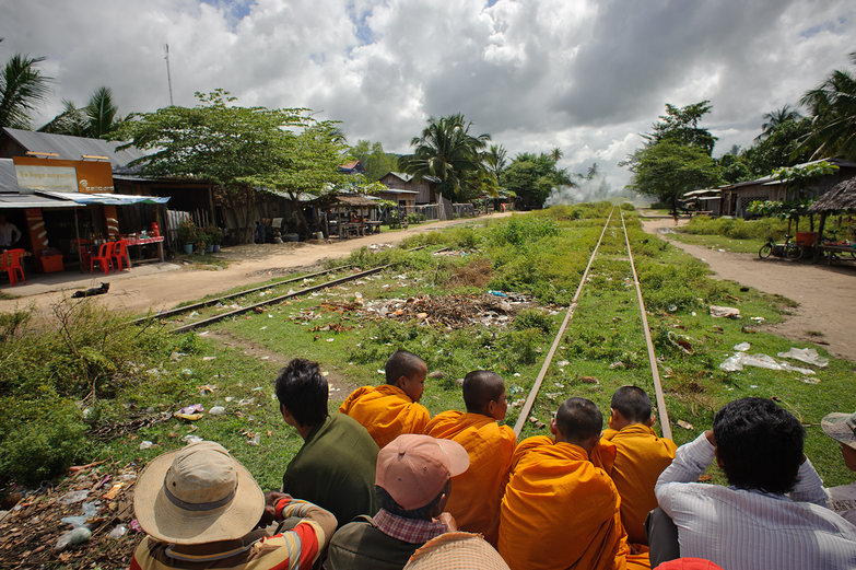 Riding on Cambodia's Bamboo Railway