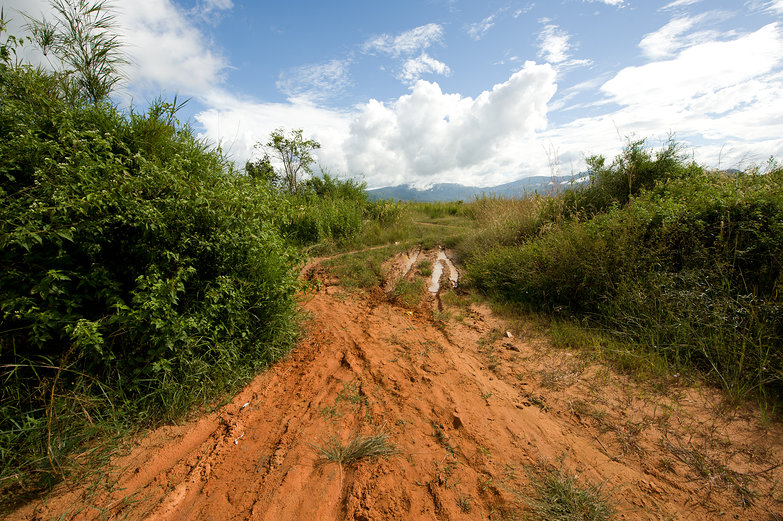 Muddy Cambodian Trail