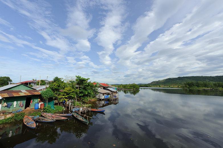Cambodian River Landscape