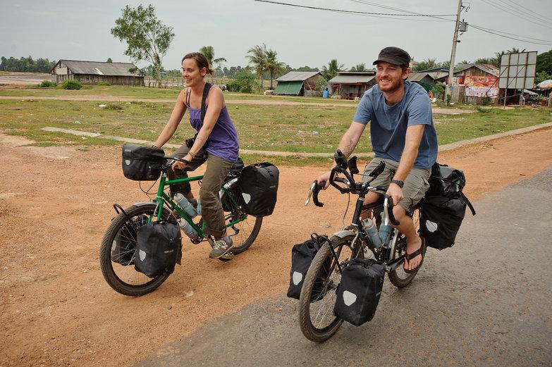 Natasha & Pete Riding Our Bikes