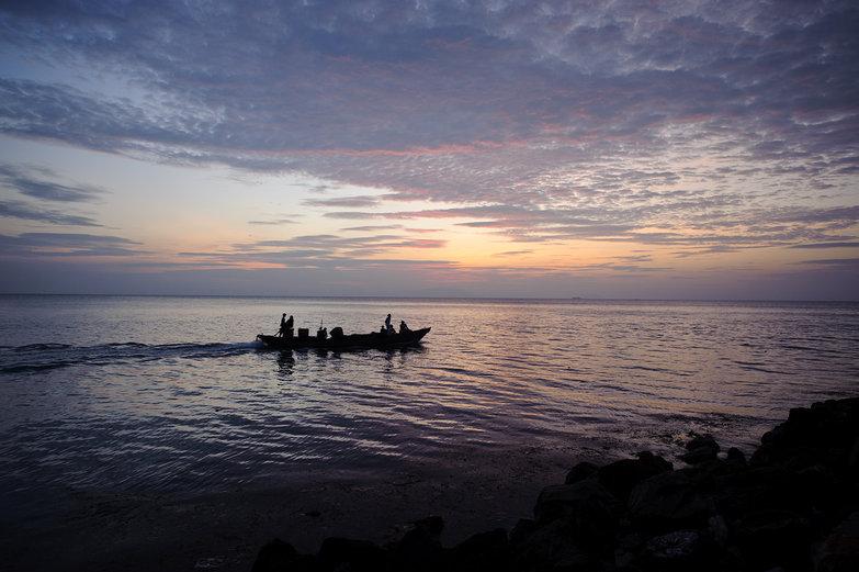 Kep Sunset & Fishing Boat
