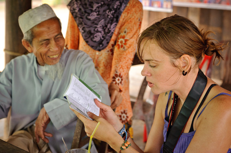 Natasha & Friendly Cambodian Man