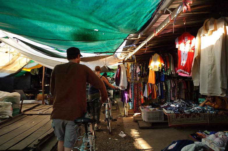Pete & Natasha in Cambodian Market