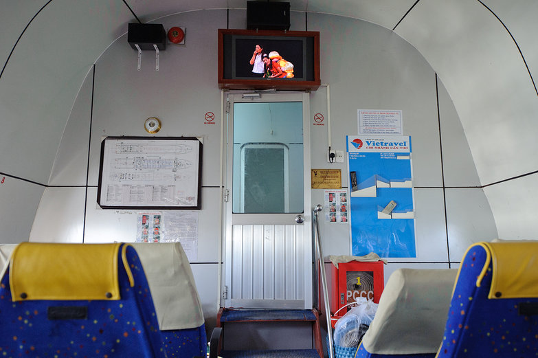 TV on Ferry to Phú Quốc
