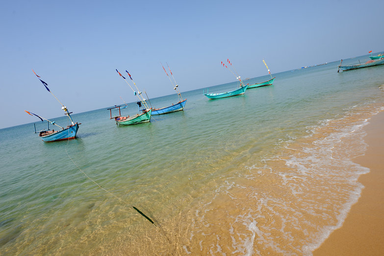 Boats on Shore of Phú Quốc