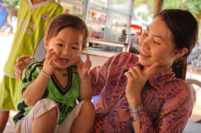 Vietnamese Woman & Daughter