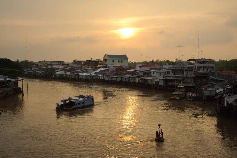 Sunset in the Mekong Delta
