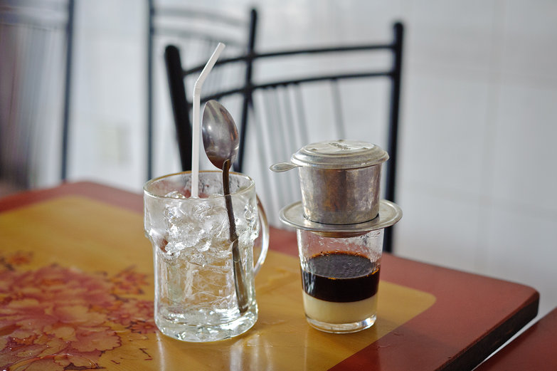 Vietnamese Iced Coffee Prep