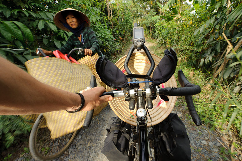 Tyler Riding in Vietnam