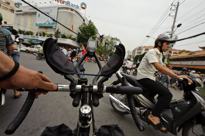 Tyler Riding in Ho Chi Minh City