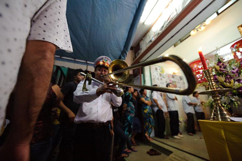 Vietnamese Funeral Trombone Player