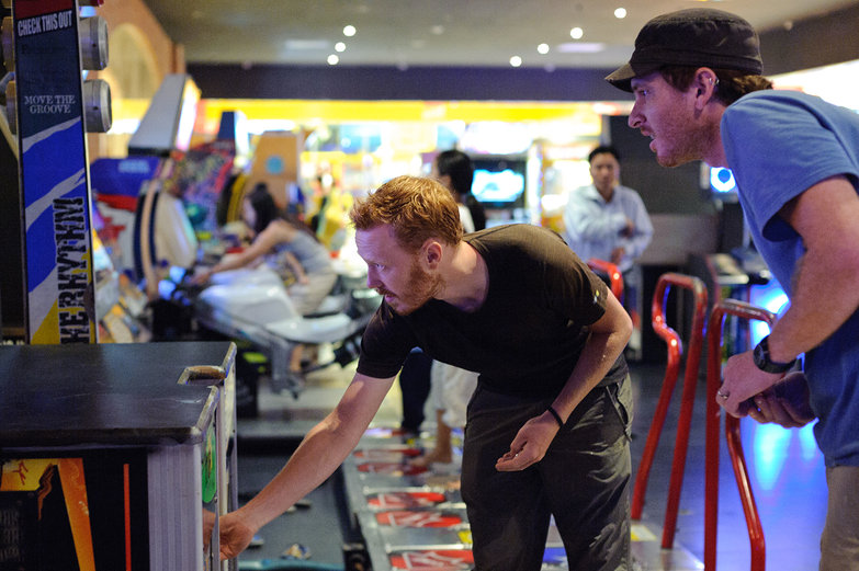Tyler & Pete Playing DDR