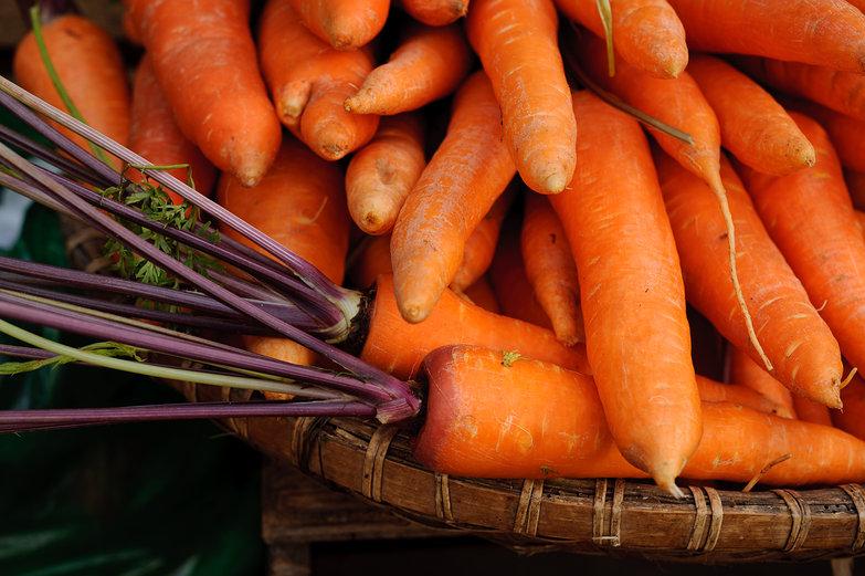 Da Lat Market Carrots