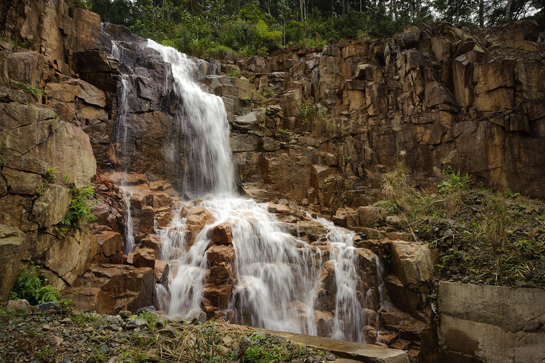 Vietnamese Mountain Waterfall