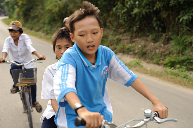 Vietnamese Kids Following Along