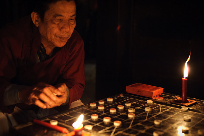 Hội An Man Playing XiangQi
