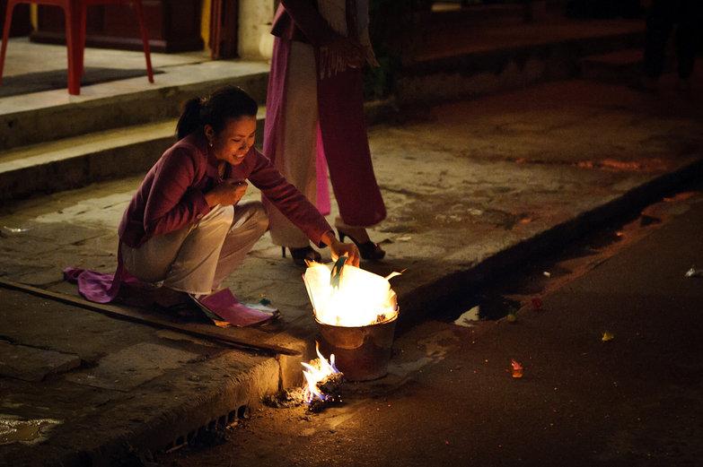 Hội An Lantern Festival Fire