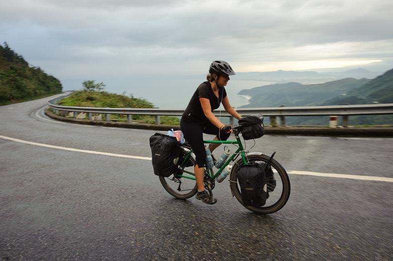 Tara Climbing Hai Van Pass