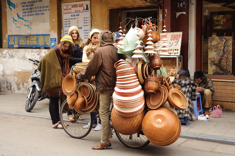 Baskets on a Bicycle