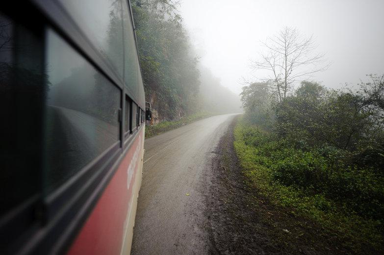 Curvy Mountain Bus Ride