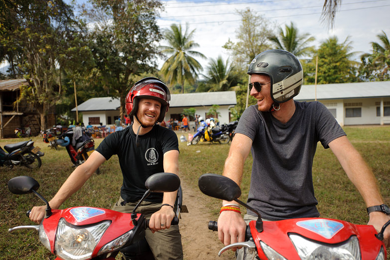 Tyler &amp; Pete on Motorbikes