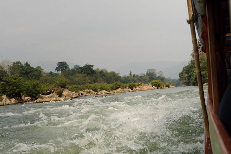 Rapids on the Nam Ou River