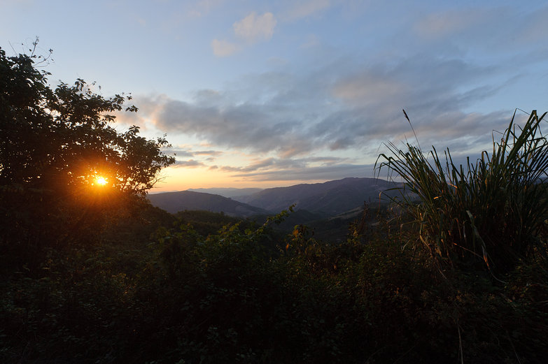 Lao Sunset Mountain View