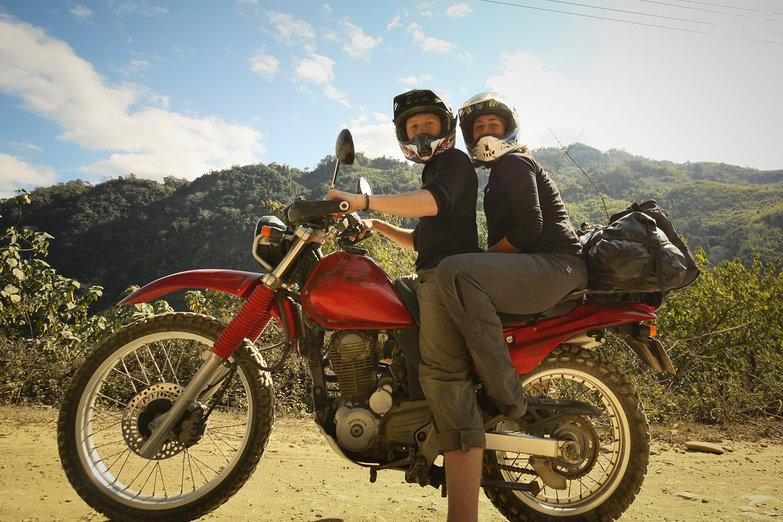 Us on a Motorcycle (By Natasha)