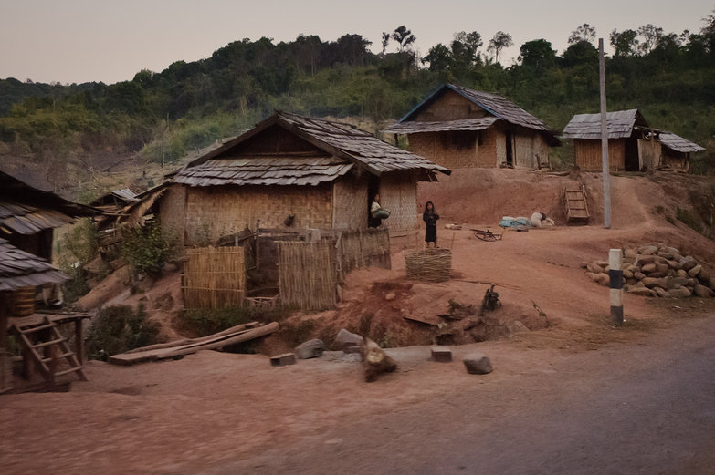 Lao Village at Dusk