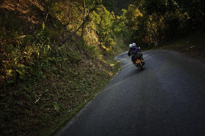 Pete & Natasha Motorcycling Lao