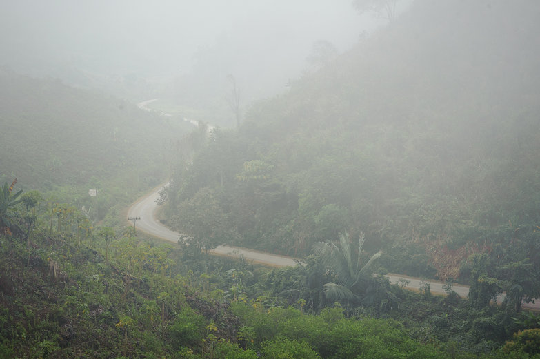 Curvy, Misty Mountain Road
