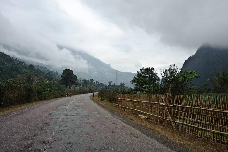Lao Misty Landscape