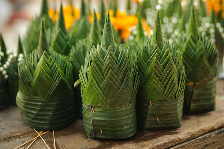 Banana Leaf Origami Sculptures