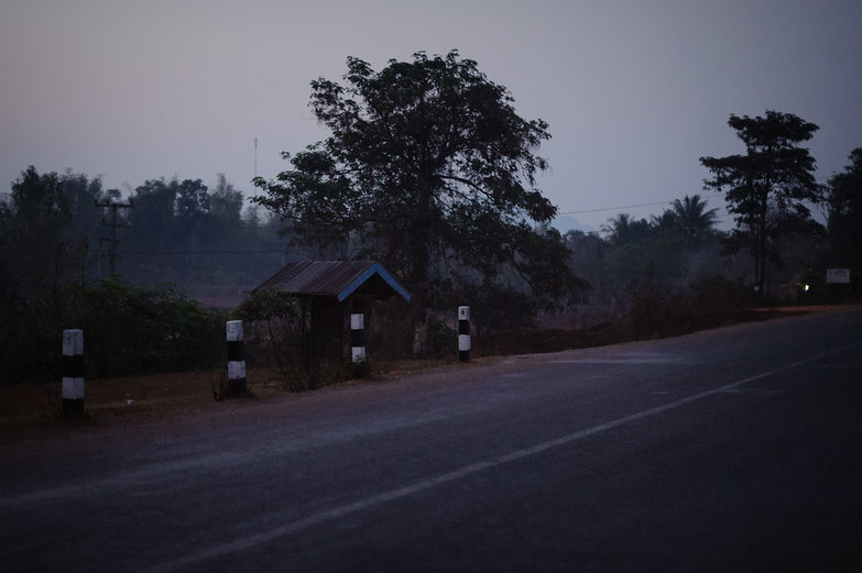Lao Early Morning Road