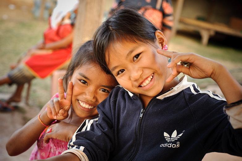 Lao Girls Smiling